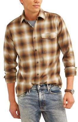 Swiss+Tech Big Men's Long Sleeve Poly Flannel Shirt