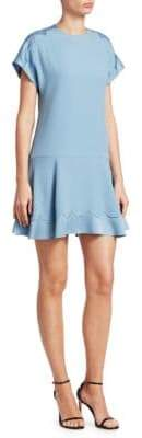 RED Valentino Scalloped Trim Mini Dress