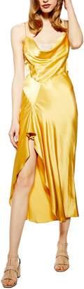 Topshop Lace Back Satin Slipdress