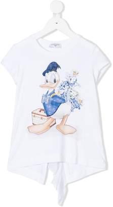 MonnaLisa ruffle Donald Duck T-shirt