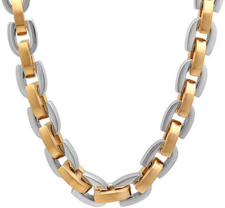 JCPenney FINE JEWELRY Mens Two-Tone Stainless Steel D-Link Chain