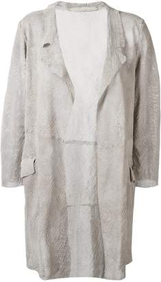 Salvatore Santoro perforated shirt jacket