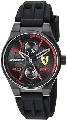 Ferrari Men's 'Speciale Multi' Quartz Stainless Steel and Silicone Casual Watch