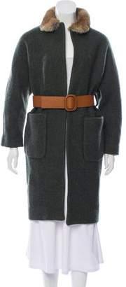 BA&SH Wool Fur-Trimmed Coat w/ Tags