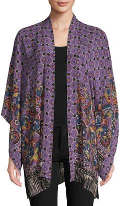 Anna Sui Women's Paisley Fringe Border Kimono