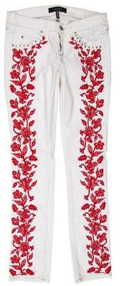 Isabel Marant Embroidered Low-Rise Jeans