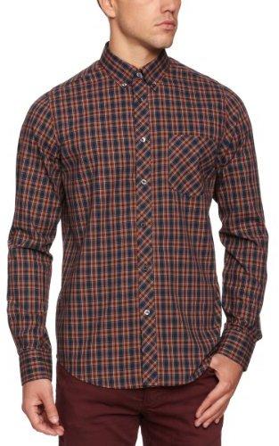 Ben Sherman Men's Long-Sleeve Oxford Tartan Shirt