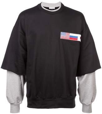 Gosha Rubchinskiy double sleeve sweatshirt