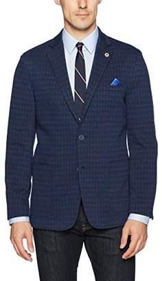 Ben Sherman Men's Two Button Slim Fit Cotton Diamond Knit Sportcoat