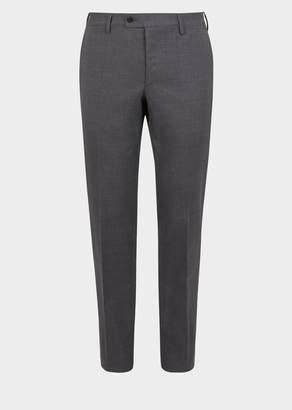 Versace Stretch Wool Formal Pants