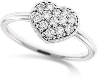 KC Designs 14K White Gold Diamond Heart Ring - 0.27 ctw