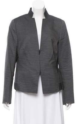 Akris Punto Stripe Collared Jacket