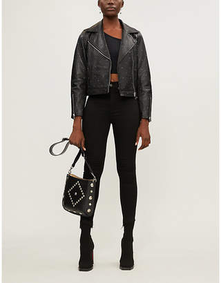 Claudie Pierlot Cali studded leather jacket