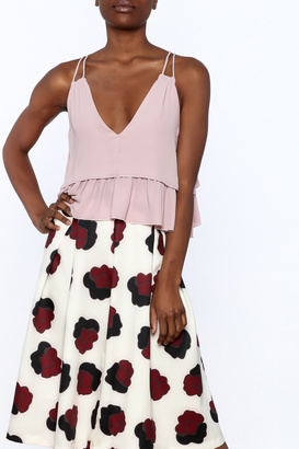 Olivaceous Rose Ruffle Crop Top $34 thestylecure.com