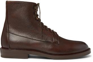 Brunello Cucinelli Full-Grain Leather Boots