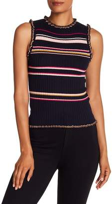 Rebecca Taylor Striped Knit Tank