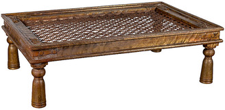 One Kings Lane Vintage Indian Window Grate Copper Coffee Table - FEA Home