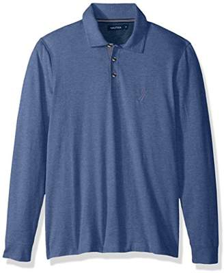 Nautica Men's Standard Long Sleeve Solid Polo Shirt