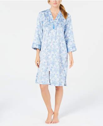 Miss Elaine Printed Short Zip Robe