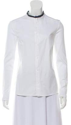 Peserico Long Sleeve Button-Up Top