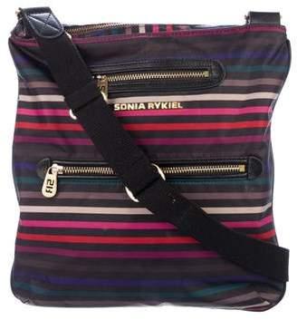 Sonia Rykiel Striped Nylon Crossbody Bag