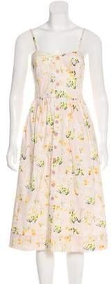 Rebecca Taylor Sleeveless Midi Dress