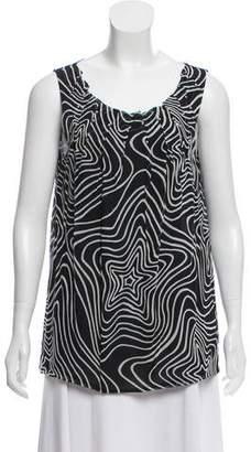 Versace Sleeveless Silk Embellished Top