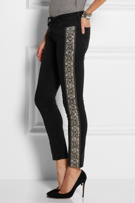 EACH X OTHER Embellished low-rise skinny jeans