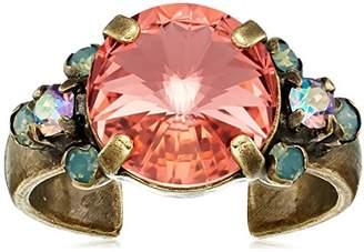 Sorrelli Womens Radiant Sunrise Crystal Adorned Ring
