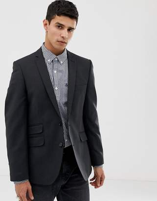Ben Sherman Slim Fit Suit Jacket in Charcoal Small Weave