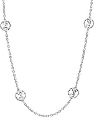 Fine Jewelry Personalized Sterling Silver Single Initial Station Necklace 68AXofuS6