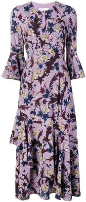 Erdem floral print ruffle dress