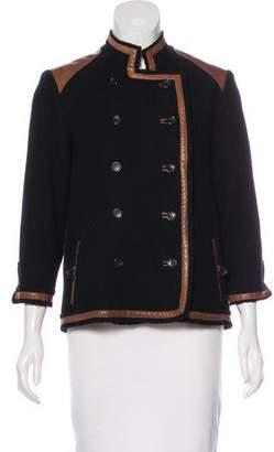 Elizabeth and James Wool Leather Trim Jacket