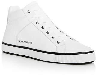 Giorgio Armani Men's Mid Top Sneakers