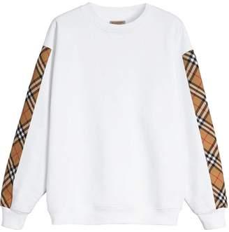 Burberry (バーバリー) - Burberry チェックパネル スウェットシャツ