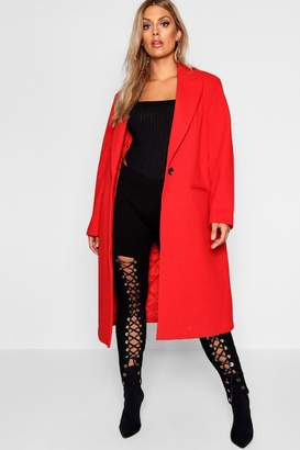 boohoo Plus Longline Formal Coat