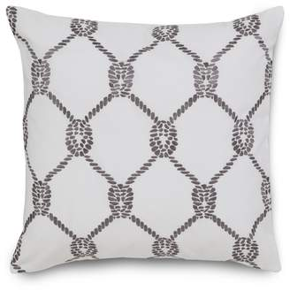 Southern Tide Breakwater Embroidered Rope Decorative Pillow