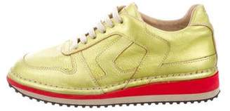 Maison Margiela Leather Low-Top Sneakers w/ Tags