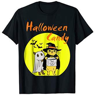 Halloween Candy Kitty Trick Or Treat Cat T-Shirt