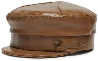Gigi Burris Millinery 'Georgie' leather newsboy cap