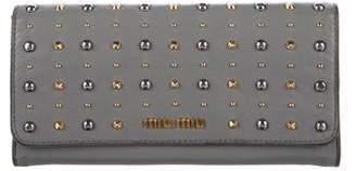Miu Miu Studded Leather Wallet