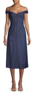 Merga Off-The-Shoulder Denim Dress