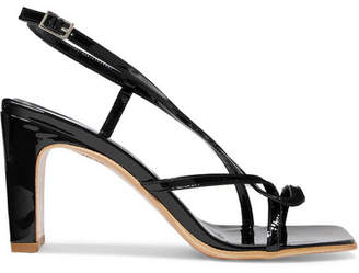 BY FAR - Carrie Patent-leather Slingback Sandals - Black