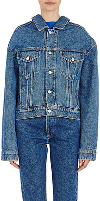 Balenciaga Women's Denim Jacket $885 thestylecure.com