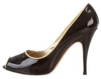 Giuseppe Zanotti Patent Leather Peep-Toe Pumps