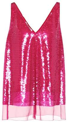 Stella McCartney Sutton sequinned silk tank top