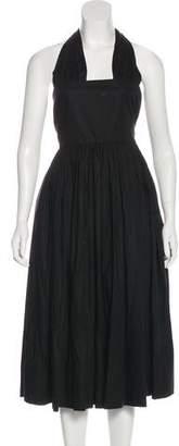 Rochas Halter Midi Dress