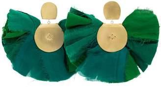 Katerina Makriyianni silk fan earrings