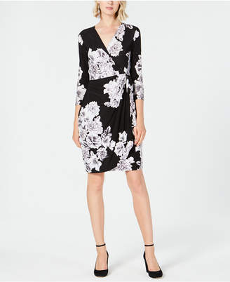 INC International Concepts I.N.C. Floral-Print Faux Wrap Dress, Created for Macy's