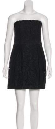 Alice + Olivia Guipure Lace Strapless Dress